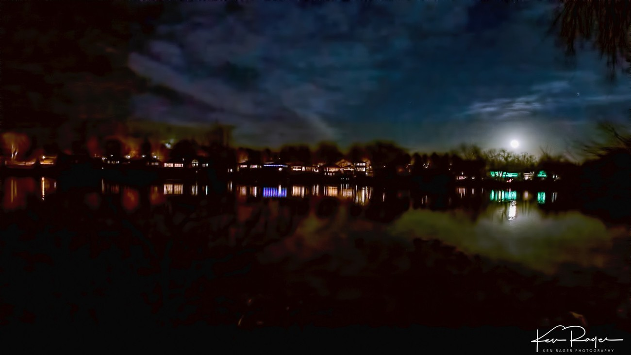 Moon Rise Over Long Pond