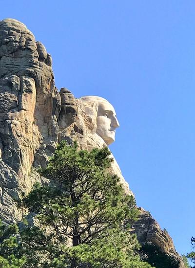 George Washington profile, Mt Rushmore