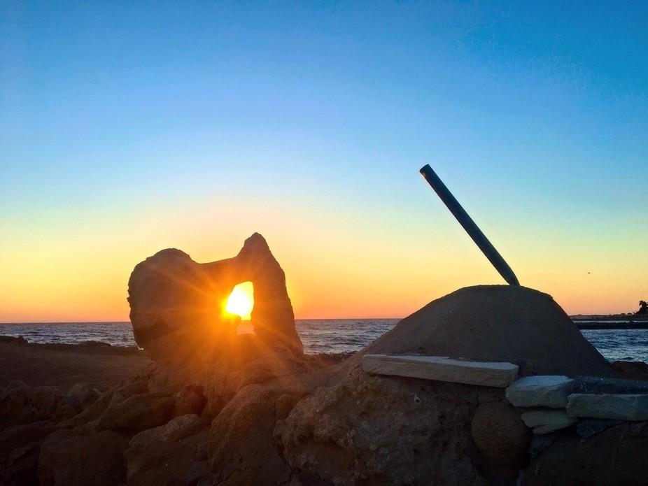 Sun set in Cyprus