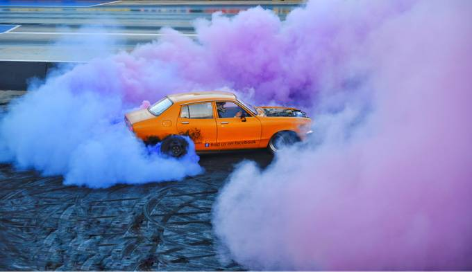 Burnout with coloured smoke by Rmcpherson - Everything Smoke Photo Contest