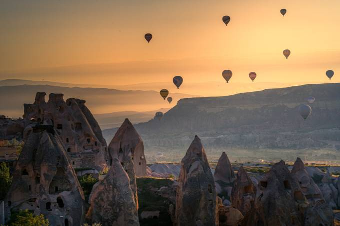 Sunrise in Cappadocia by ardaerlik - Show Balloons Photo Contest