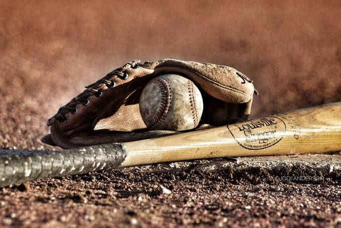 Ball, Bat and Glove by Stellasview - Subjects On The Ground Photo Contest