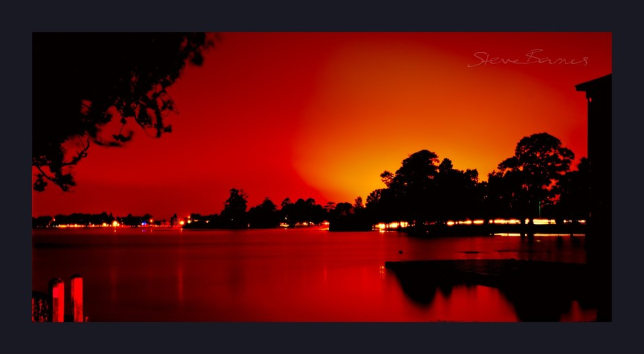 A blaze of red across the lake as the sunset breathes its last! I love Lake Wendouree at night. The colours vary; and when it's getting darker and you leave the shutter open for ages, it's amazing what can happen. It's an artistic pursuit! If you're local; next time there's a really nice sunset, look for me as it's starting to die down somewhere along the banks of beautiful Lake Wendouree.   K1SB4168