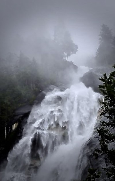 Cascade in the Fog