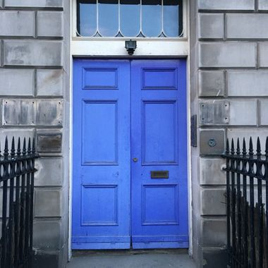 Blue Doors on historic home in Edinburgh