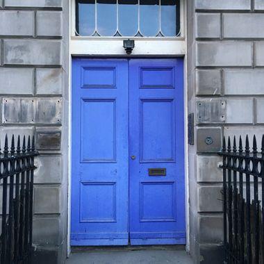 Blue Doors on historic home in Edinburgh