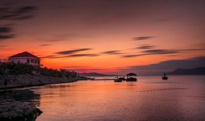 Sunset in Makarska, Hrvatska