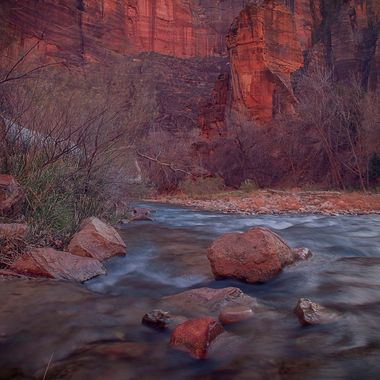 Zion National Park, River Walk, Virgin River.