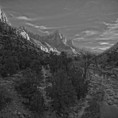 Zion National Park, Sunset,