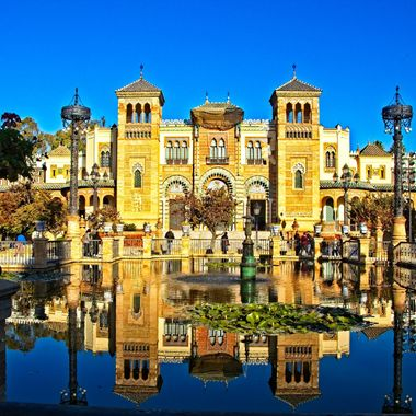 After a presenting at a Conference in Seville, the Conference Organizers took the participants on a tour of the city. I took this photo at the entrance to the Parque de Maria Luisa.