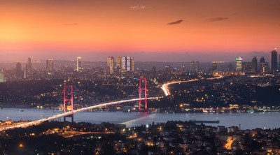 Golden hour over Istanbul
