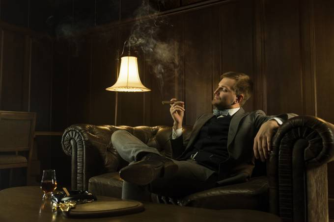 man is smoking a cigar by A_Boldyshev - Everything Smoke Photo Contest