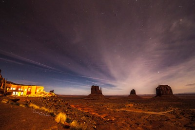 Nightview of Monument Valley