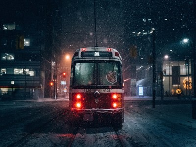 Snowy nights in Toronto