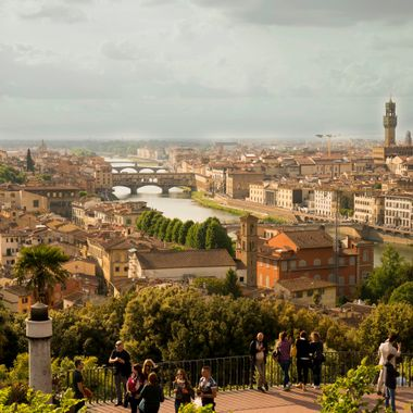 The view from Piazzale Michelangelo  in Florence/Firenze.