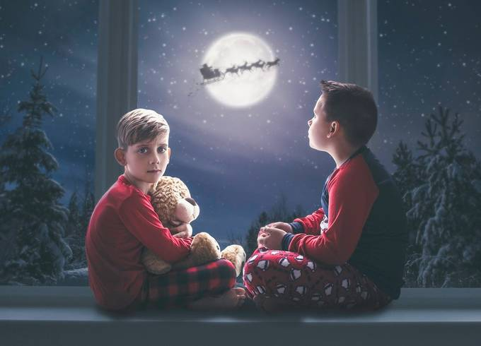 Waiting For Santa by kellyrobitaille - Family In The Holidays Photo Contest