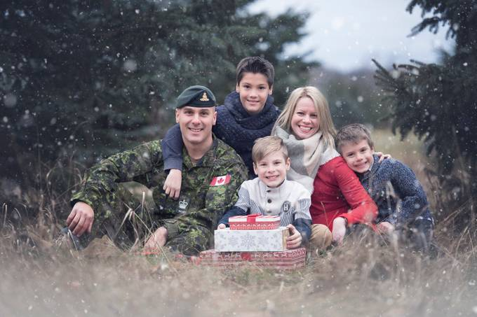 Military Family by genevievelapointe - Family In The Holidays Photo Contest