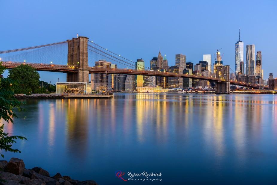 Nice morning at Brooklyn after moonset