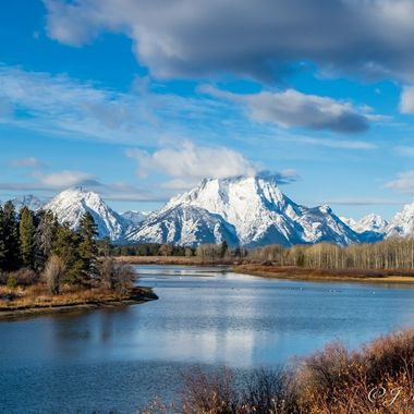 River Through The Grand Tetons National Park