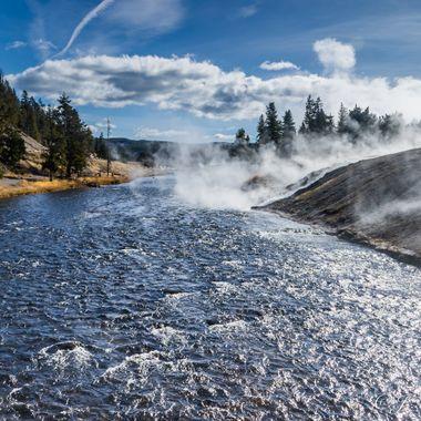 River Through Yellowstone Geyser Park