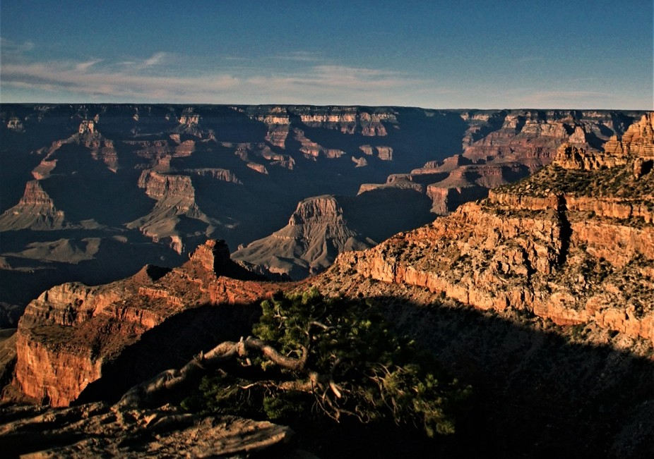 From the South Rim of the Grand Canyon just before sunset