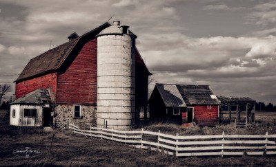 Wisconsin Weathered Red Barn