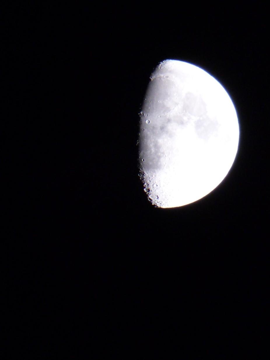 Moon Shot at Night
