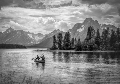 Tetons in Black and White
