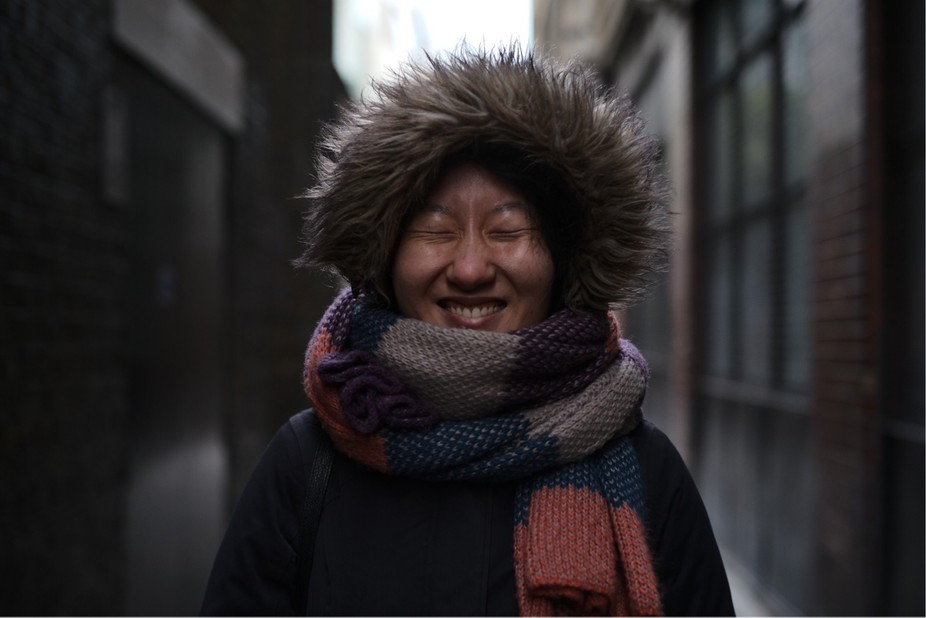 MY FIRST street portrait: wonderful stranger