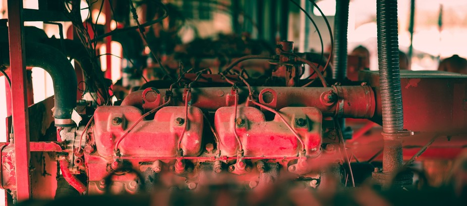 Red Engines in a Row 2