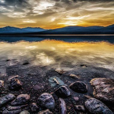 Sunset Over Lake McDonald