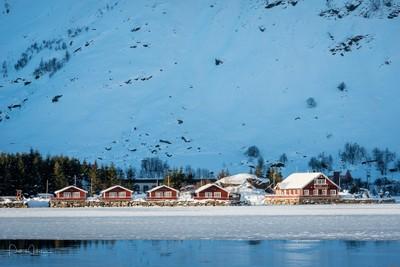 Lofoten island in Winter