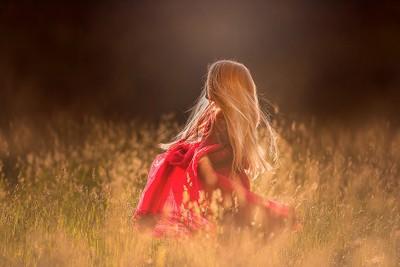 Golden sun shimmers like glitter