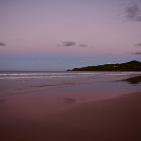 Sun has just set at Byron Bay main beach, Australia