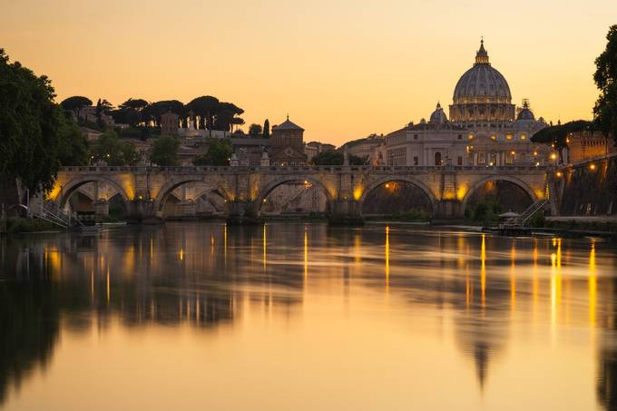 Gold time in Rome by Dflorenzi - City Sunsets Photo Contest