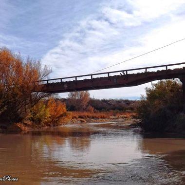 Rail bridge over the Gila