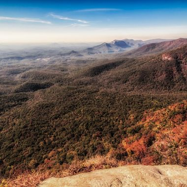 View of Table Rock, South Carolina and the surrounding area from Ceasar's Head.
