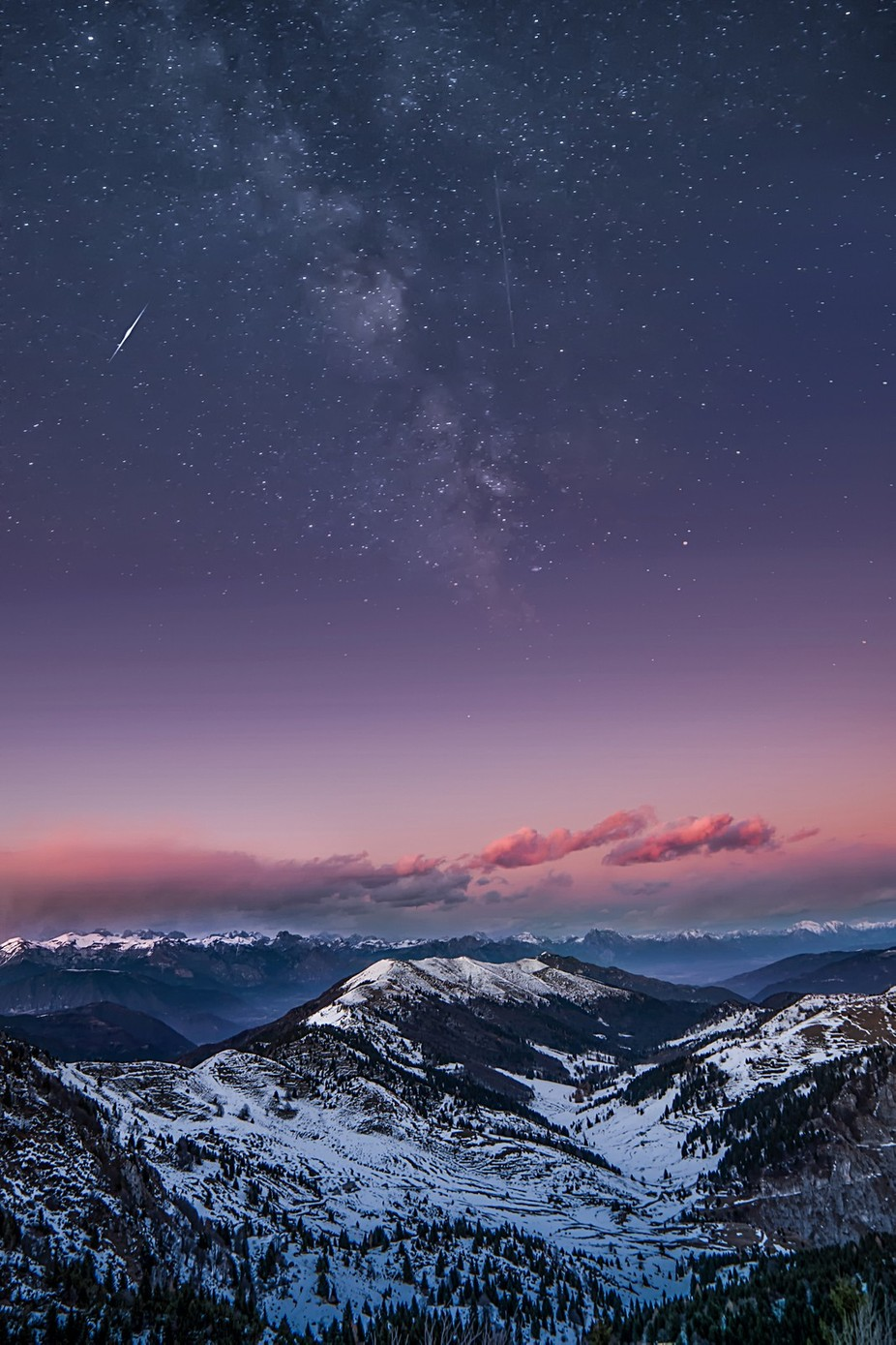 Mountain and Milky Way by MassimilianoM - Nature And The Night Photo Contest