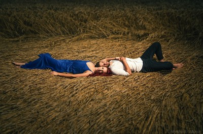 lovers on the hay