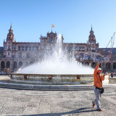 I took this photo when me and my wife went to Spain for a conference at Seville. After the conference, the conference organizers took us on a city tour. One of the places that we went to is the Plaza de Espana. This was one of the photos I took that day.