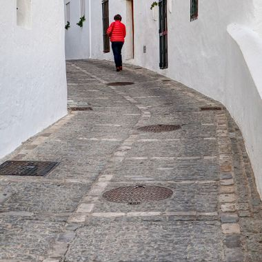 I took this photo when me and my wife went to Spain for a conference at Seville. After the conference, we went to the south of Spain and visited the small town, Vejer de la Frontera. This was one of the photos I took that day.