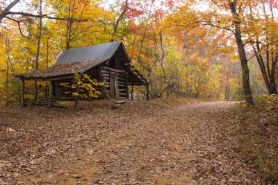 Unique Old Log Barn