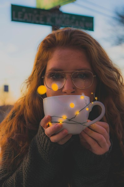 The warmth of coffee