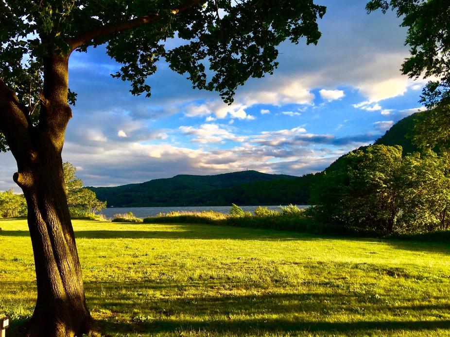 Hudson River at Cold Spring Harbor, NY.