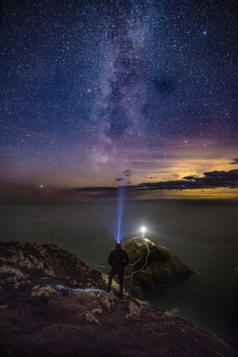 South Stack Milkyway by danstruthersphotography - Experimental Light Photo Contest