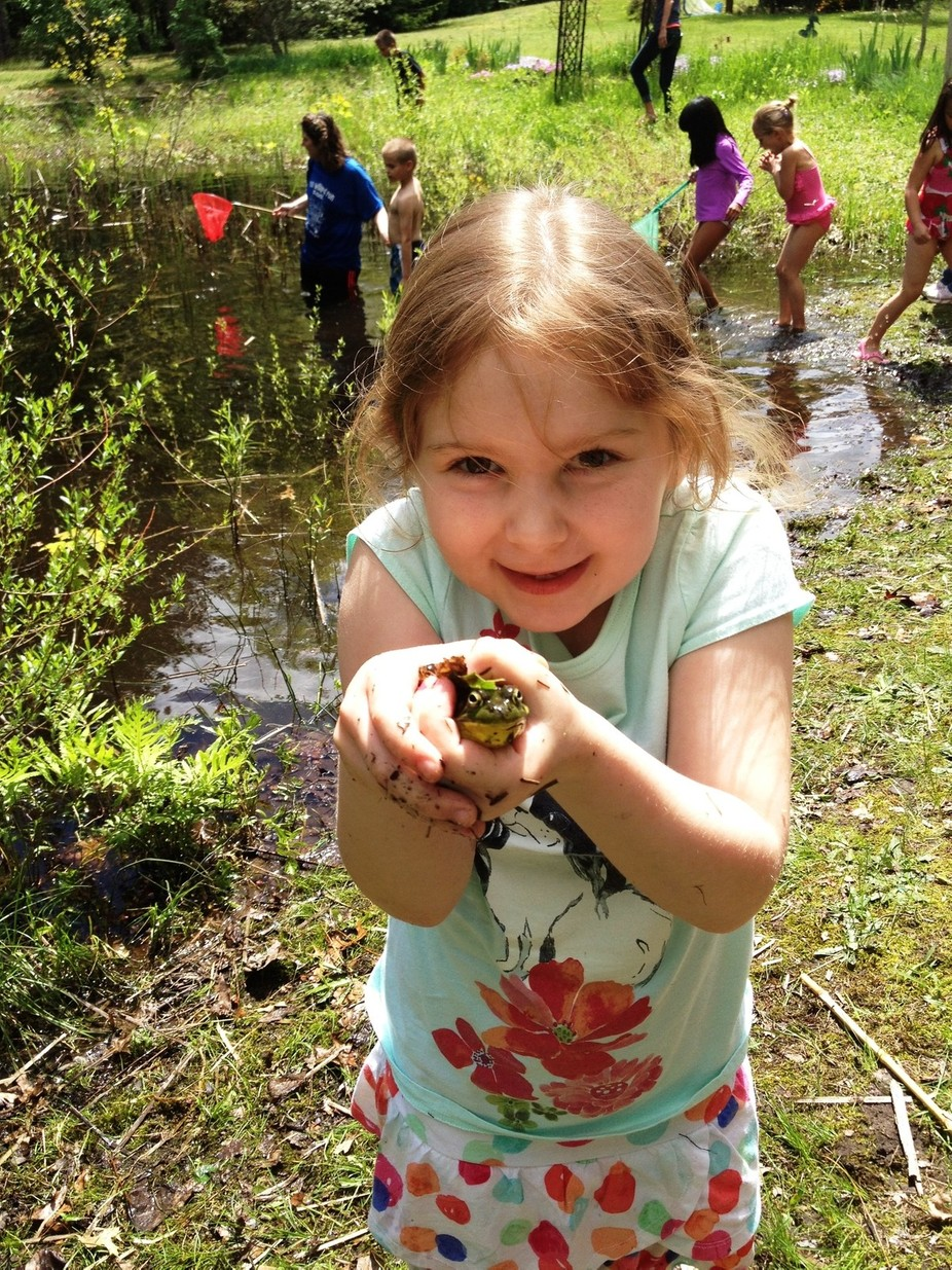 My granddaughter was thrilled to catch her very first frog at her first-grade teacher's ...