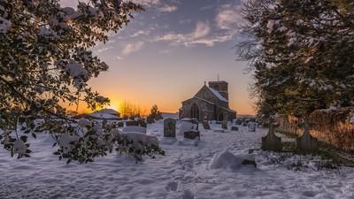 December Snow, Northamptonshire, England