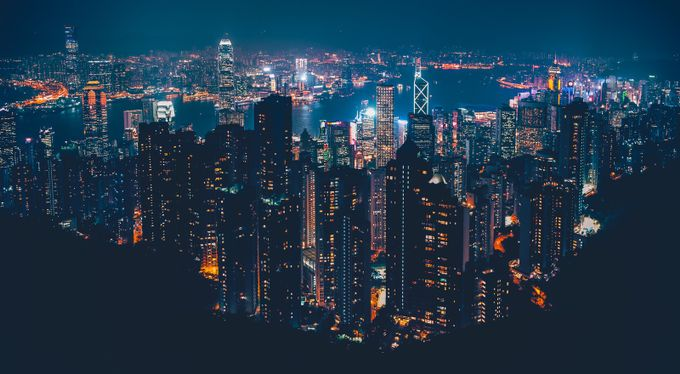 VictoriaPeak overlooking Hong Kong skyline by rowanke - Rooftops Photo Contest 2018