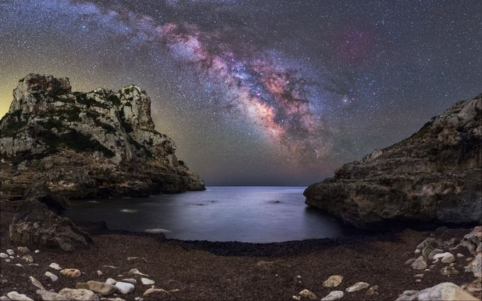 Cala de Llucalari Milkyway by mkolightrecords - The Milky Way Photo Contest
