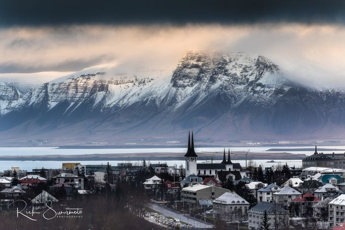Reykjavik in the rain by motownrick - Towns In The Winter Photo Contest